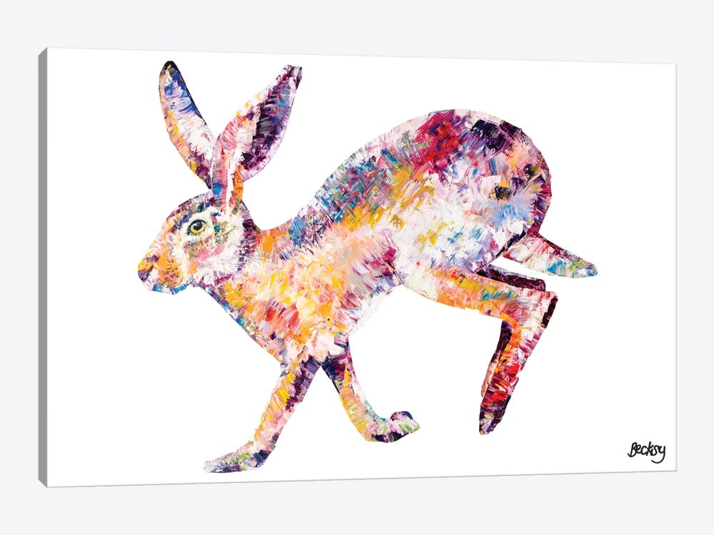 Hare by Becksy 1-piece Canvas Artwork