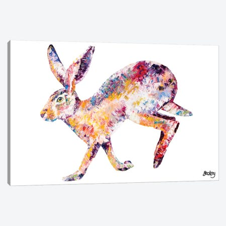 Hare 3-Piece Canvas #BEC22} by Becksy Canvas Wall Art