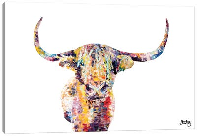 Highland Cow Canvas Print #BEC24