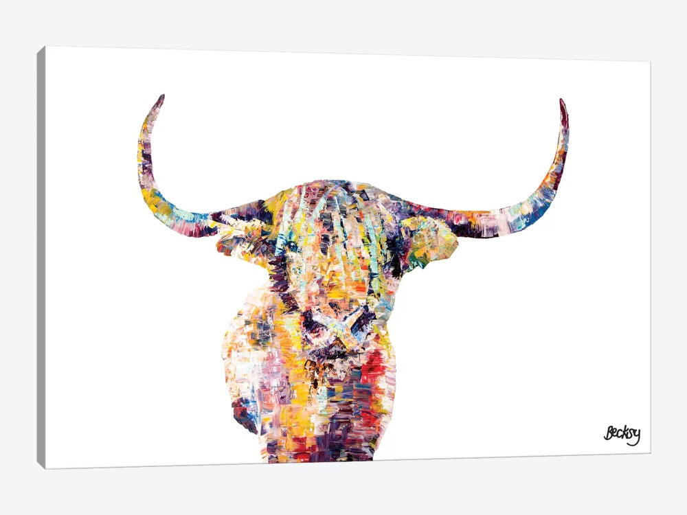 Highland Cow by Becksy 1-piece Canvas Art