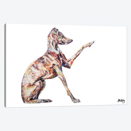 Italian Greyhound Canvas Print #BEC26} by Becksy Art Print