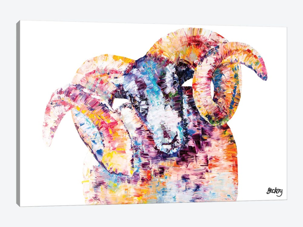 Black-Faced Sheep by Becksy 1-piece Canvas Art