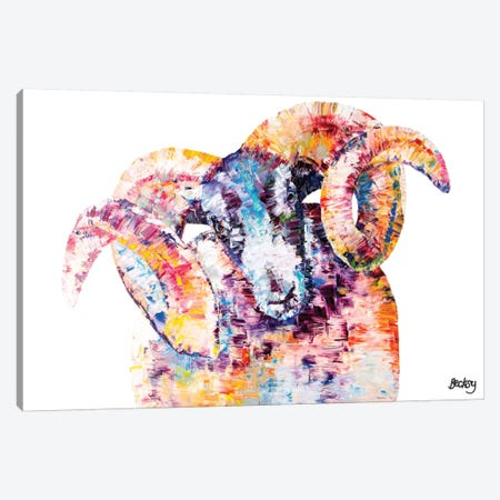 Black-Faced Sheep Canvas Print #BEC2} by Becksy Canvas Artwork