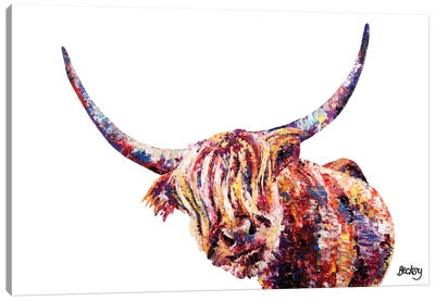 Olivia's Highland Cow Canvas Art Print