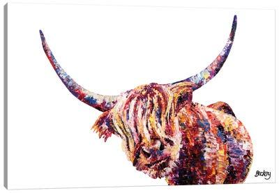Olivia's Highland Cow Canvas Art Print