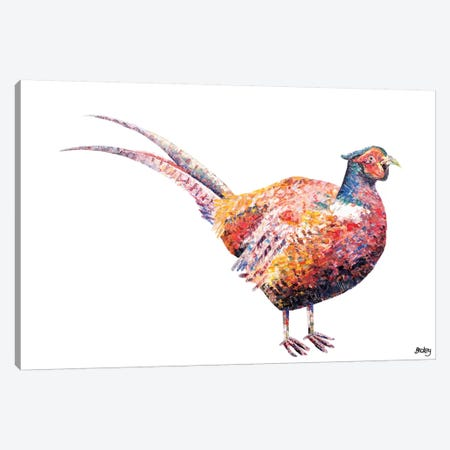 Pheasant Canvas Print #BEC34} by Becksy Canvas Art