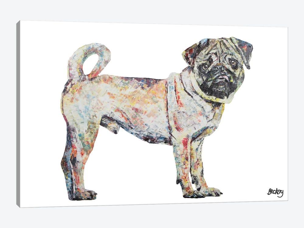 Pug by Becksy 1-piece Canvas Art
