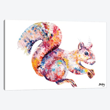 Red Squirell Canvas Print #BEC36} by Becksy Canvas Art