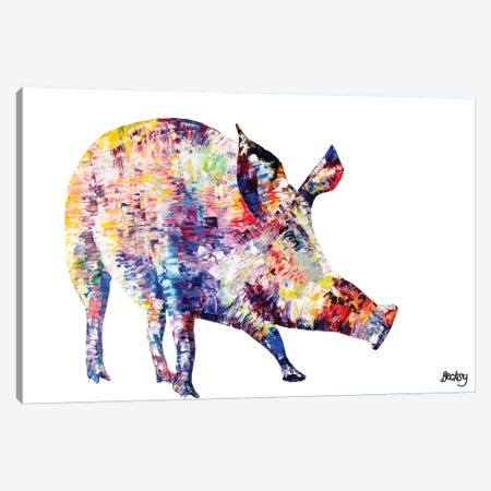 Wild Boar Canvas Print #BEC43} by Becksy Canvas Wall Art