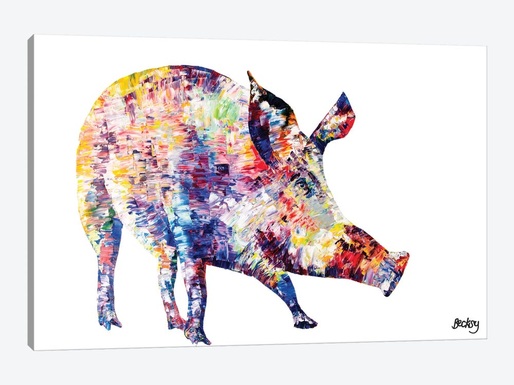 Wild Boar by Becksy 1-piece Canvas Art Print