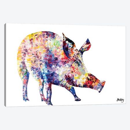 Wild Boar Canvas Print #BEC43} by Becksy Canvas Wall Art