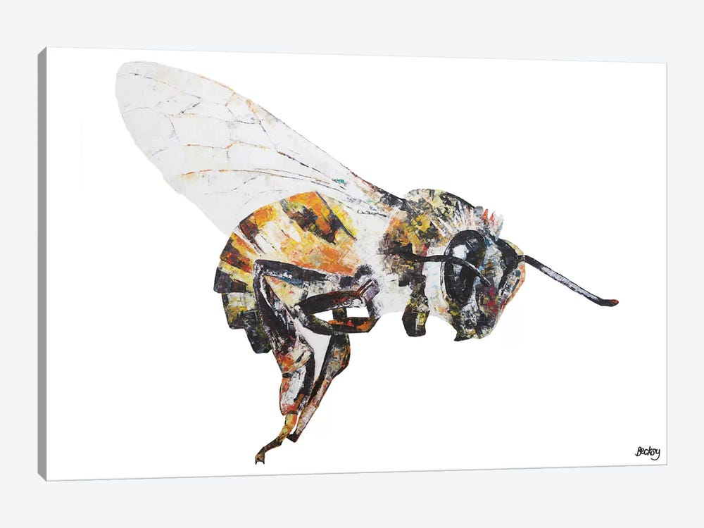 Bee by Becksy 1-piece Canvas Art