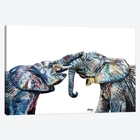 Bahati & Bashasha Canvas Print #BEC48} by Becksy Canvas Artwork