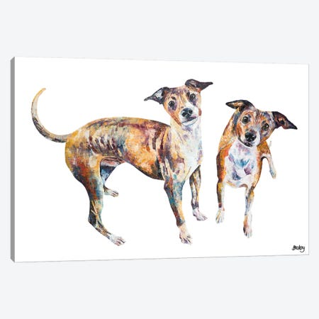 Paco & Rico Canvas Print #BEC53} by Becksy Canvas Art Print