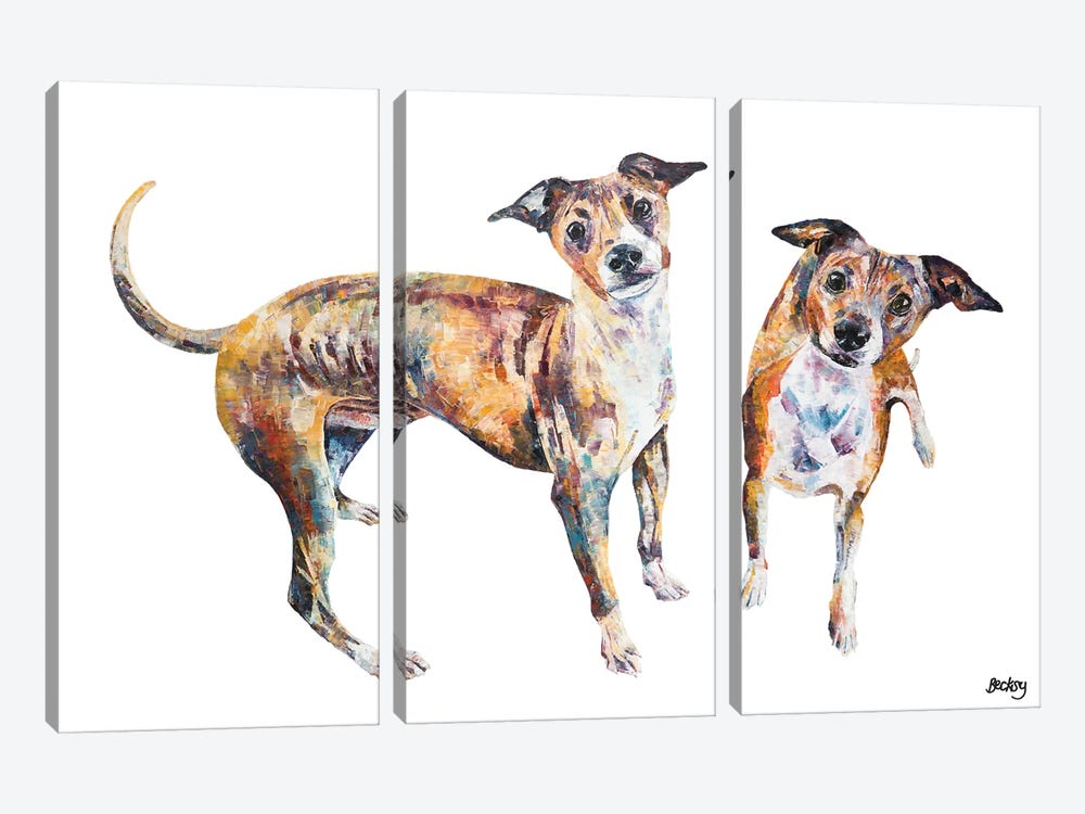 Paco & Rico by Becksy 3-piece Canvas Art