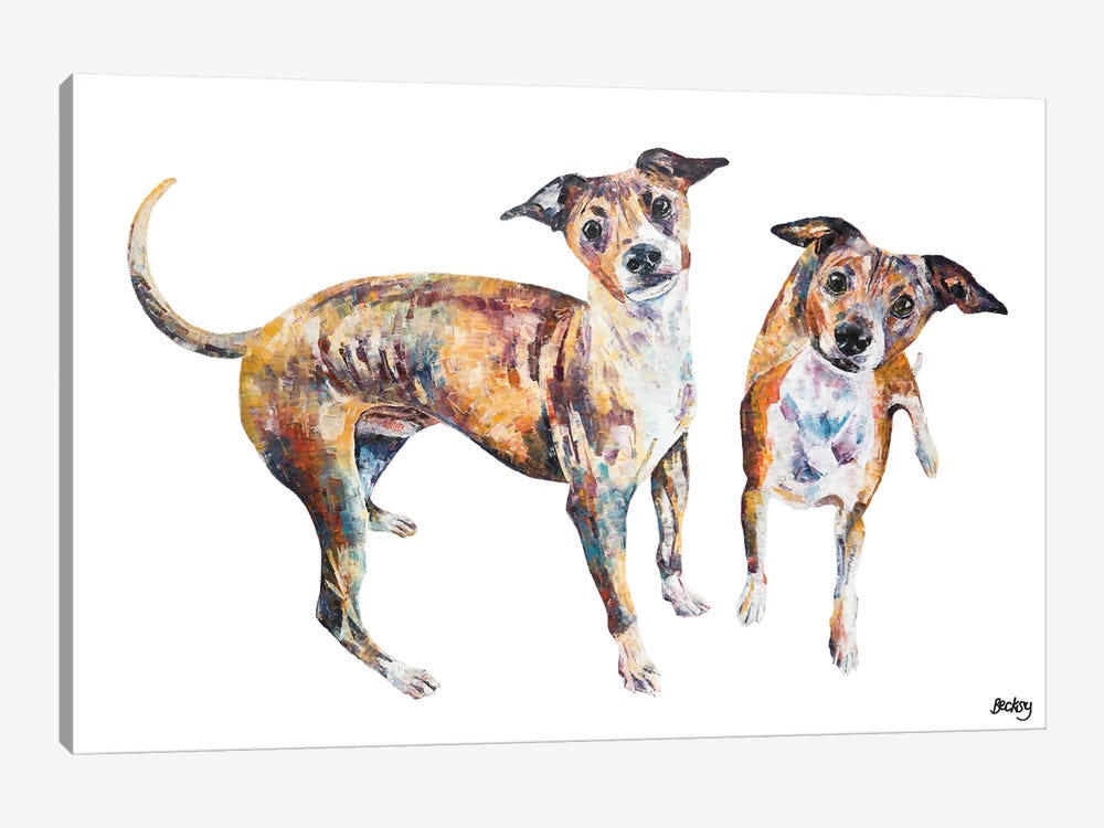 Paco & Rico by Becksy 1-piece Canvas Artwork