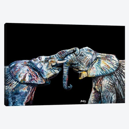 Bahati & Bashasha, Black Background Canvas Print #BEC55} by Becksy Canvas Art