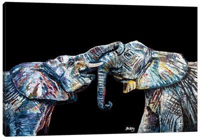 Bahati & Bashasha, Black Background Canvas Art Print