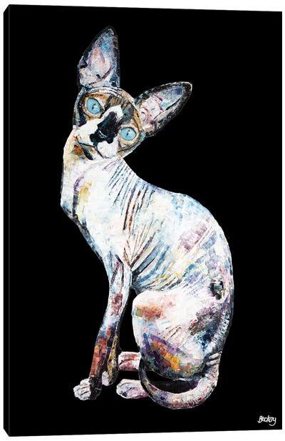 Larry, Black Background Canvas Art Print