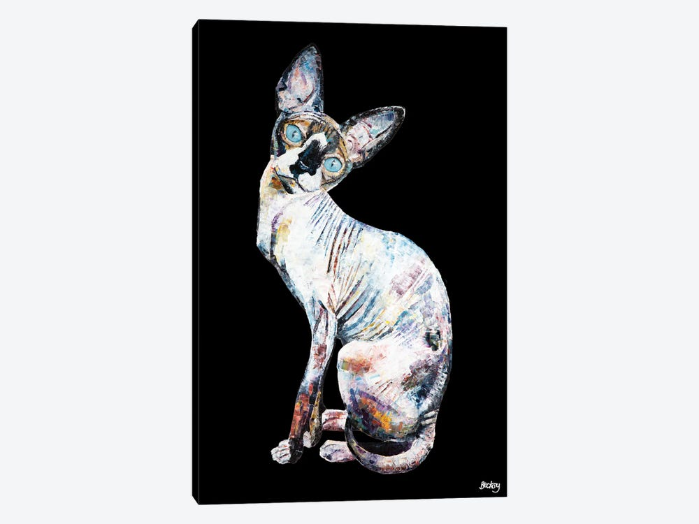 Larry, Black Background by Becksy 1-piece Art Print