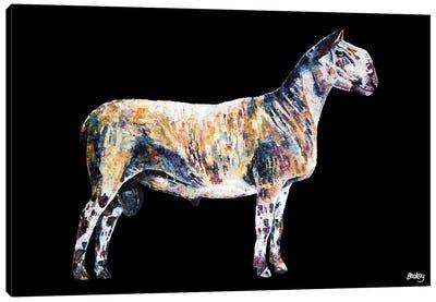 Ted, Black Background Canvas Art Print