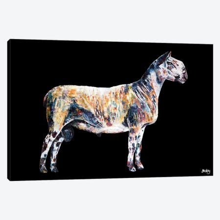Ted, Black Background Canvas Print #BEC59} by Becksy Canvas Art Print