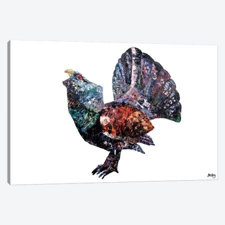 Capercaillie Canvas Print #BEC5} by Becksy Art Print