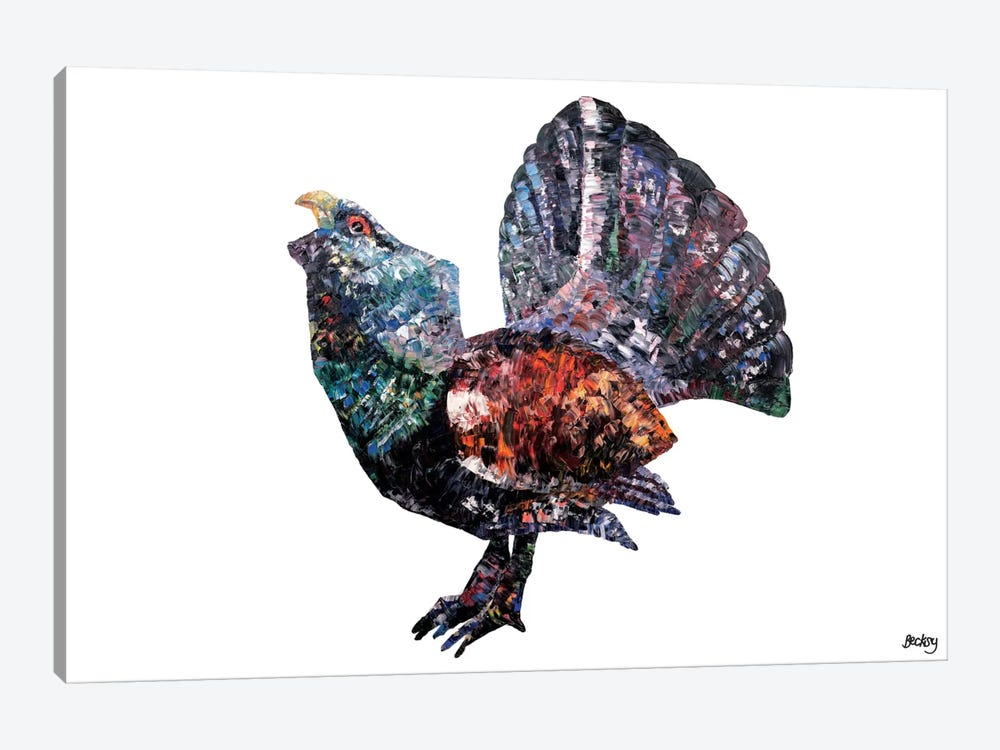 Capercaillie by Becksy 1-piece Canvas Art Print