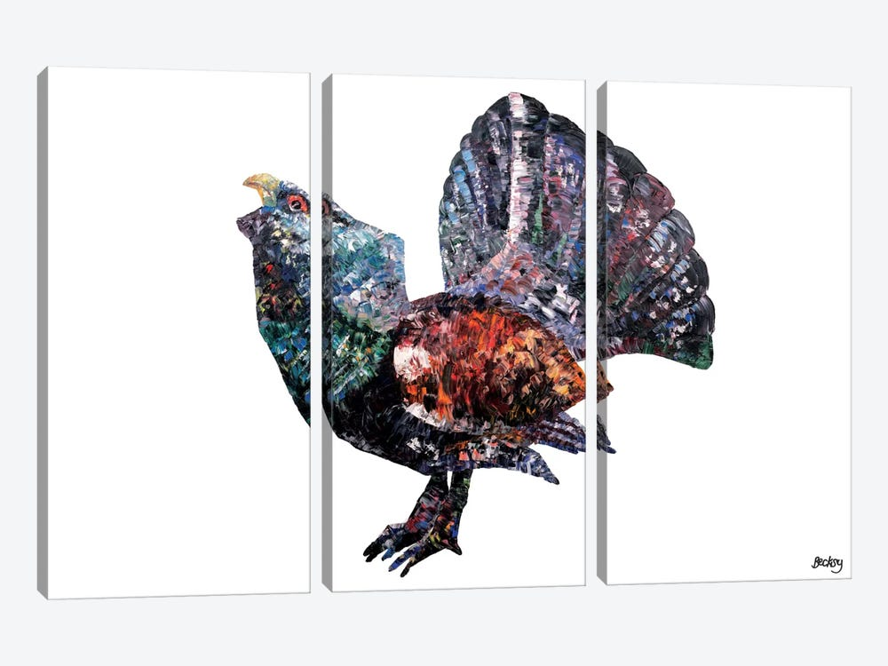 Capercaillie by Becksy 3-piece Canvas Art Print