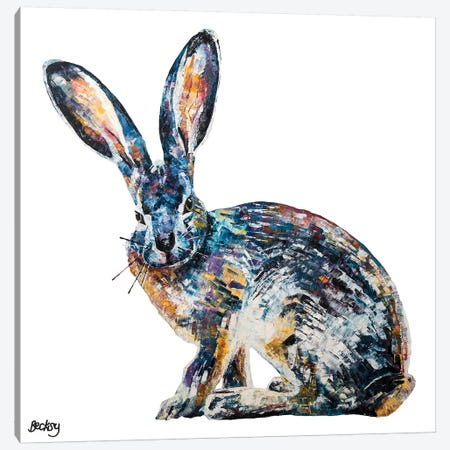 Jack Rabbit Canvas Print #BEC64} by Becksy Art Print