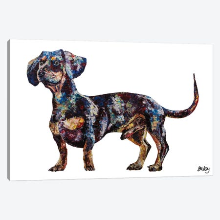Dachshund Canvas Print #BEC7} by Becksy Art Print