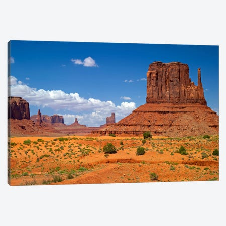 West Mitten Butte, Monument Valley, Navajo Nation, Arizona, USA Canvas Print #BED5} by Petr Bednarik Canvas Wall Art