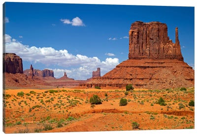 West Mitten Butte, Monument Valley, Navajo Nation, Arizona, USA Canvas Art Print