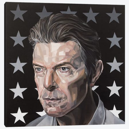 David Bowie Canvas Print #BEE11} by Jo Beer Art Print