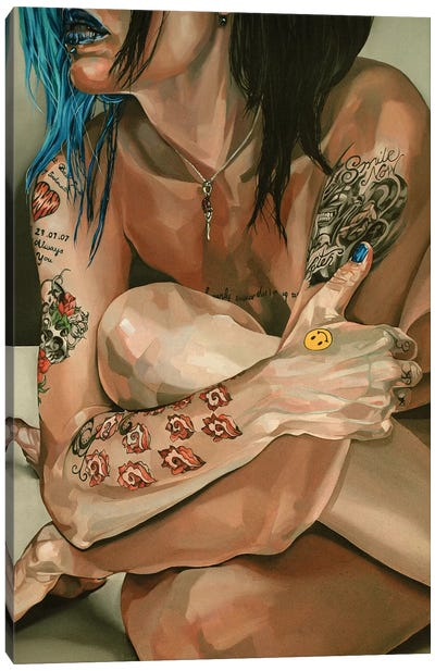 Fleshy Decorated Canvas Art Print