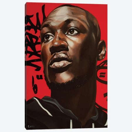 A Life Of Grime Stormzy Canvas Print #BEE1} by Jo Beer Canvas Wall Art