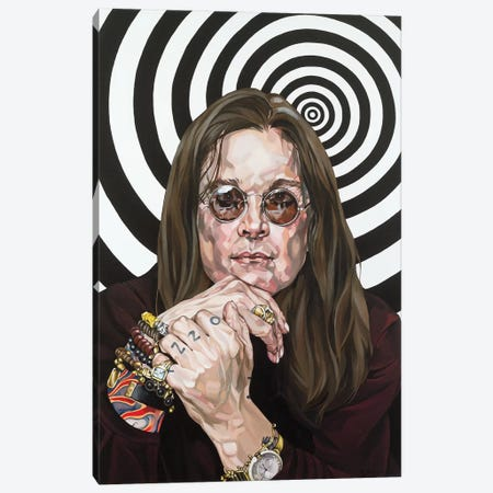 Ozzy Osbourne Canvas Print #BEE22} by Jo Beer Canvas Wall Art