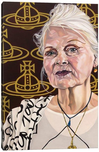 Vivienne With Orbs Canvas Art Print