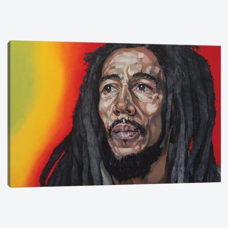 Bob Marley Canvas Print #BEE3} by Jo Beer Canvas Art