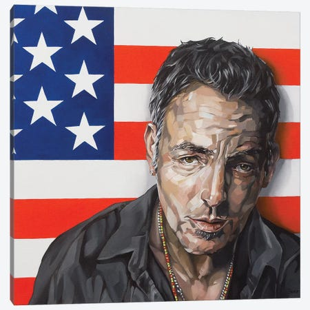 Bruce Springsteen Canvas Print #BEE6} by Jo Beer Art Print