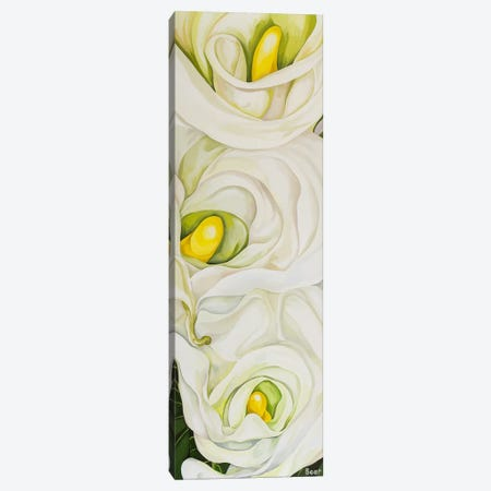 Calla Lily With Palm Canvas Print #BEE9} by Jo Beer Canvas Wall Art
