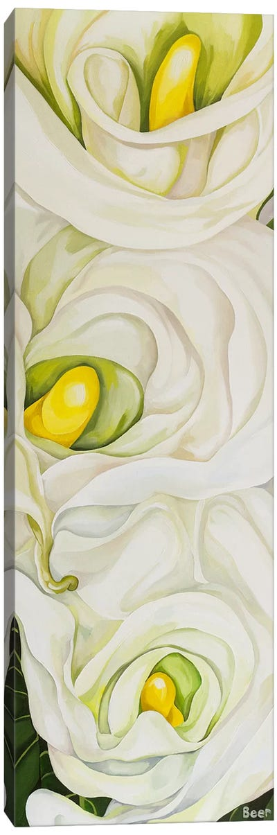 Calla Lily With Palm Canvas Art Print