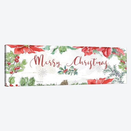 Farmhouse Holidays Merry Christmas Canvas Print #BEG102} by Beth Grove Canvas Wall Art
