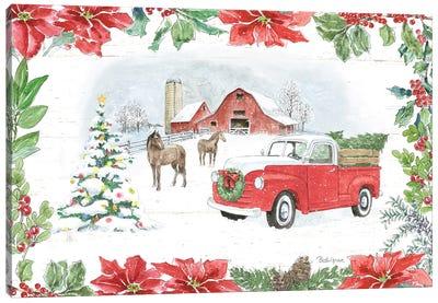 Farmhouse Holidays I Canvas Art Print