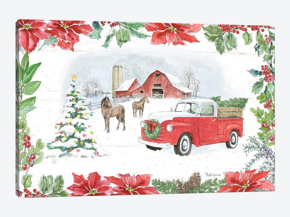 Farmhouse Holidays I by Beth Grove 1-piece Canvas Art