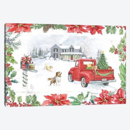 Farmhouse Holidays II Canvas Print #BEG105} by Beth Grove Canvas Art Print