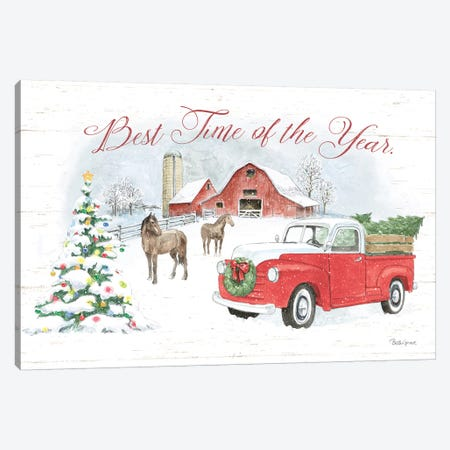 Farmhouse Holidays V Canvas Print #BEG107} by Beth Grove Art Print