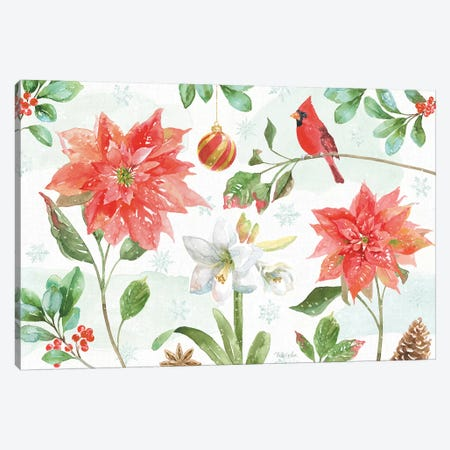Holiday Flora IV Canvas Print #BEG115} by Beth Grove Canvas Art