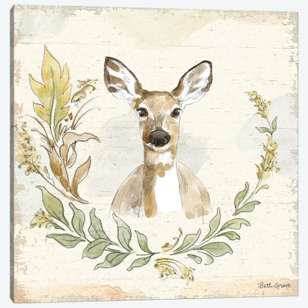Woodland Wreath VII Canvas Print #BEG11} by Beth Grove Art Print