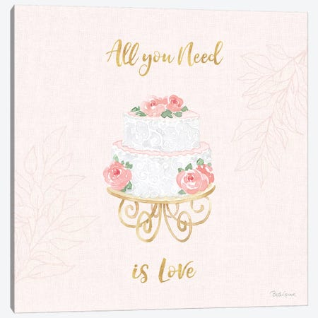 All You Need is Love IX Pink Canvas Print #BEG127} by Beth Grove Canvas Print